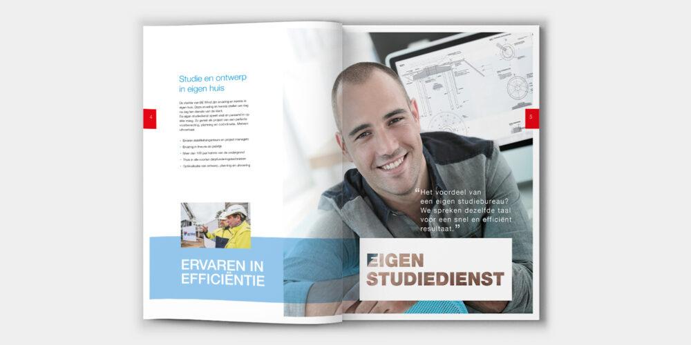 Viertalige corporate brochure en beursmateriaal