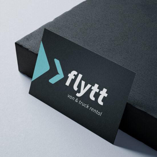Name search, logo, huisstijl en allerlei communicatietools voor Flytt
