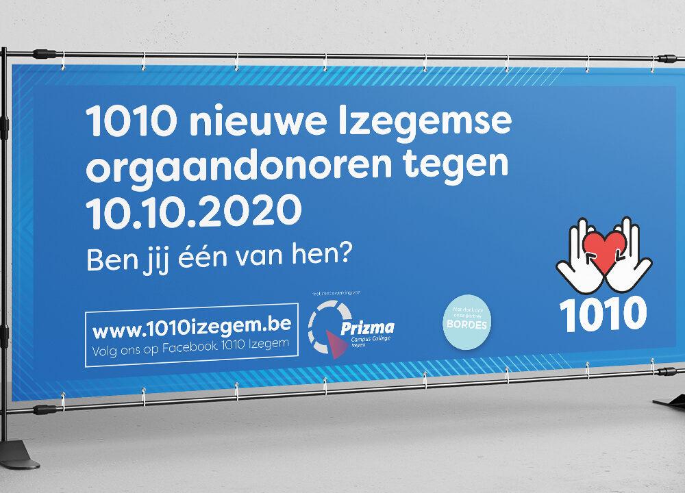 Banners en spandoeken voor campagne 1010 Izegem