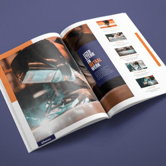 Metaalwerken Samoy, bedrijfsbrochure