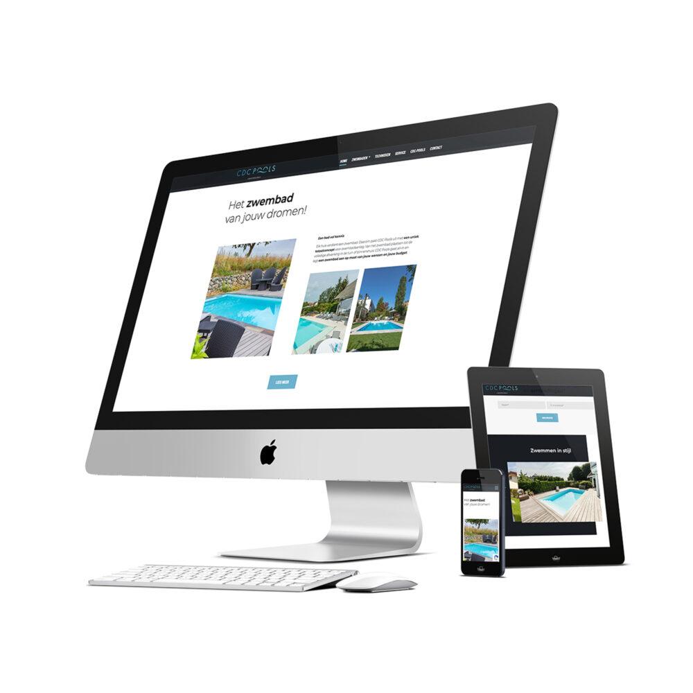 website en SEO voor nieuwe website CDC Pools