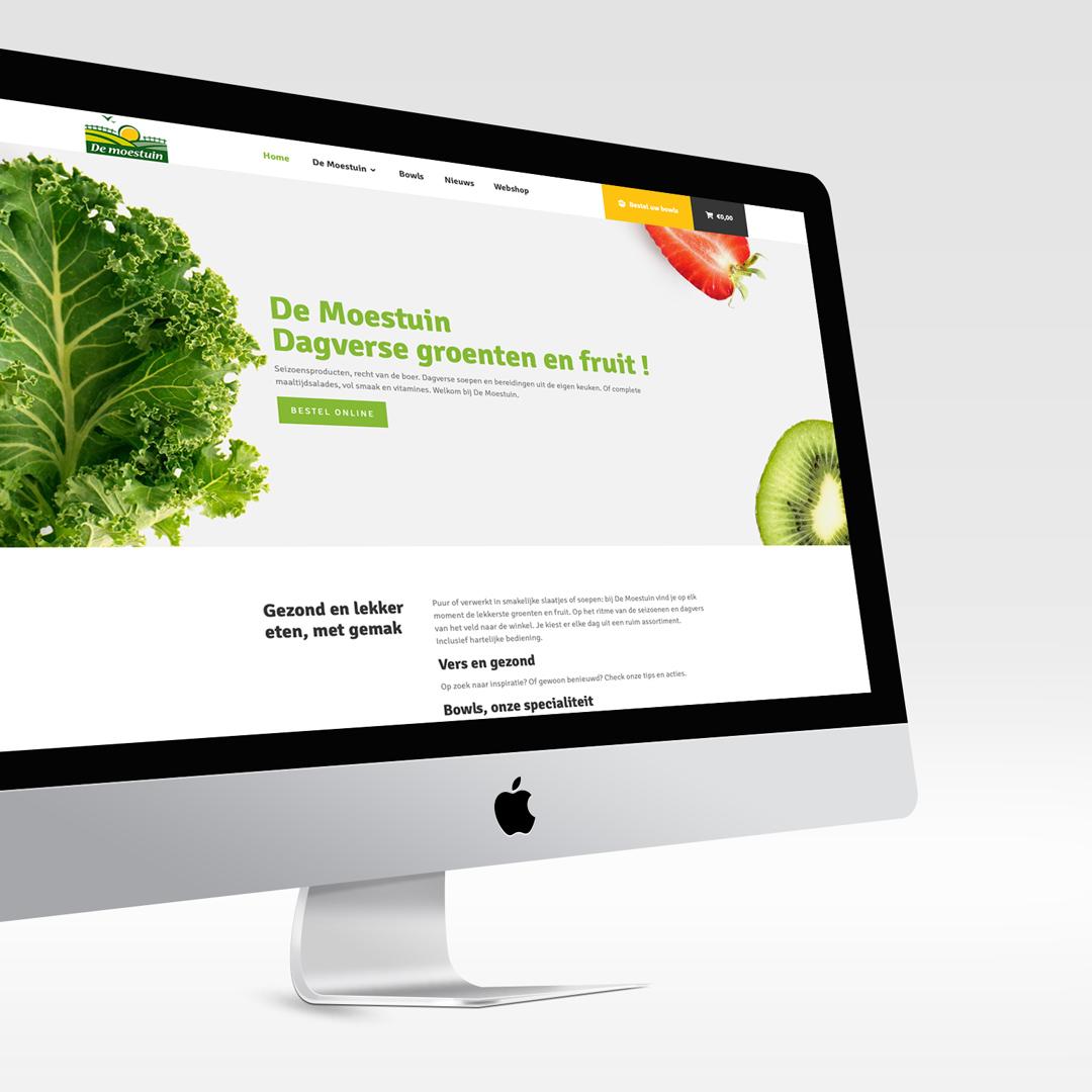 website met webshop voor groenten- en fruithandel