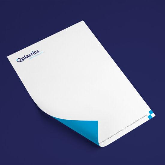 Qplasticks-briefpapier voorstel